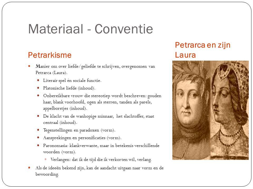 Materiaal - Conventie Petrarca en zijn Laura Petrarkisme