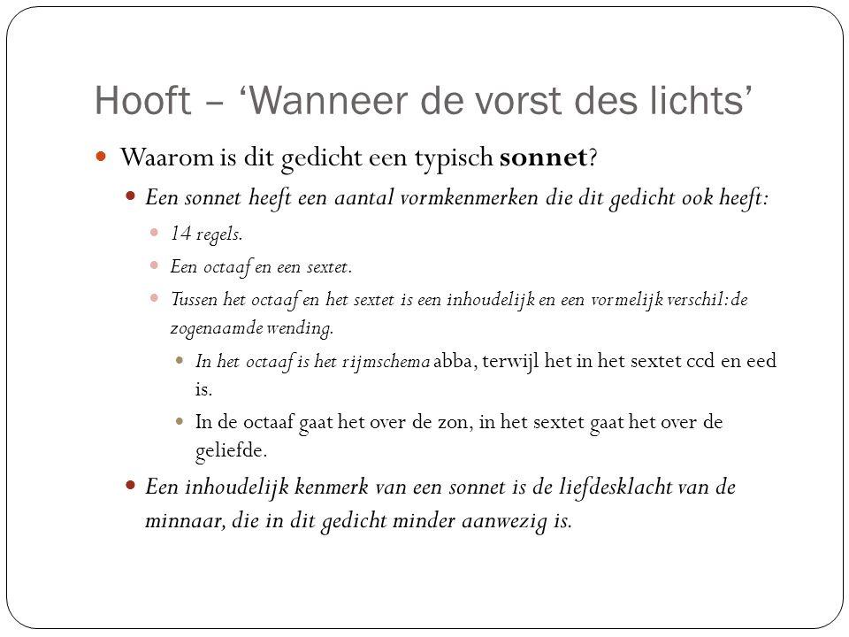 Hooft – 'Wanneer de vorst des lichts'