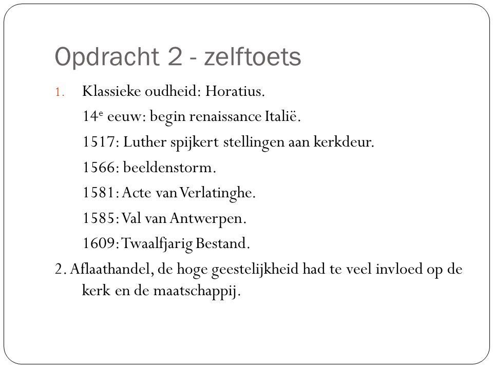 Opdracht 2 - zelftoets Klassieke oudheid: Horatius.
