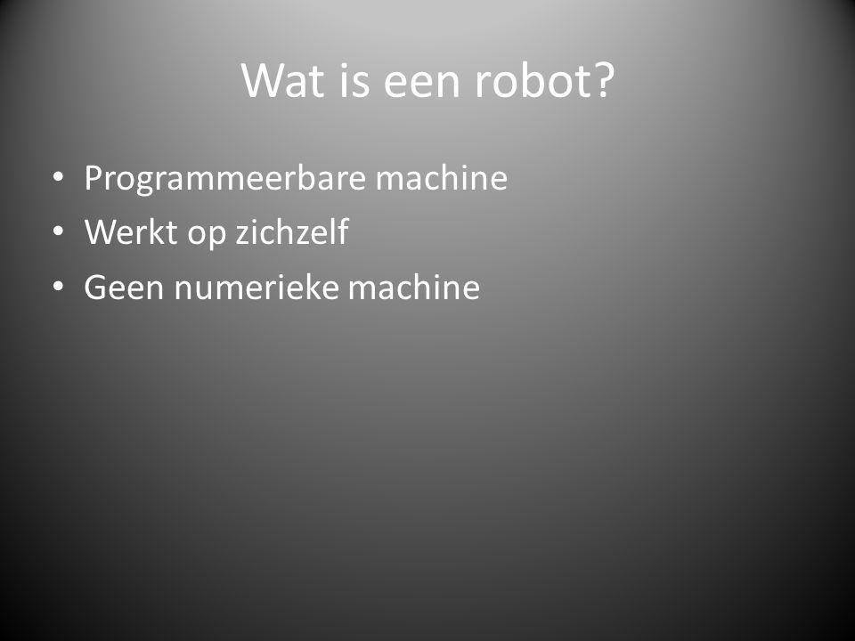 Wat is een robot Programmeerbare machine Werkt op zichzelf