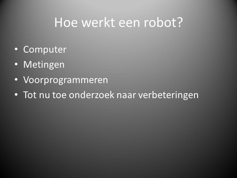 Hoe werkt een robot Computer Metingen Voorprogrammeren