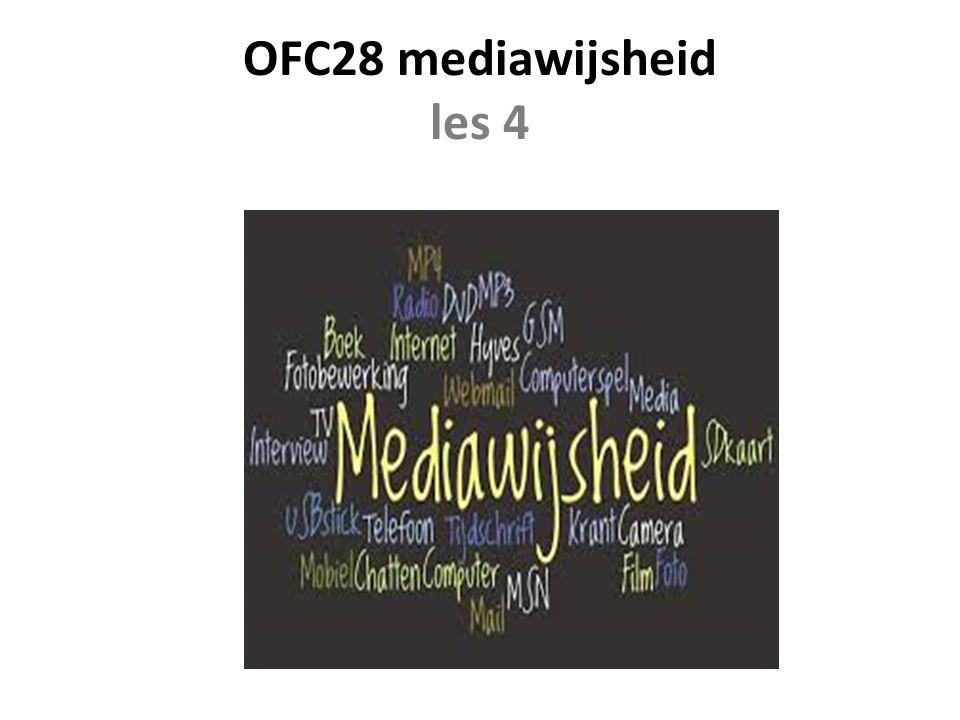 OFC28 mediawijsheid les 4