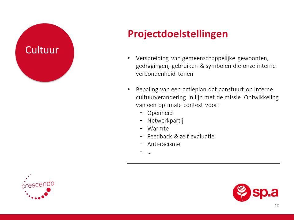 Projectdoelstellingen Cultuur