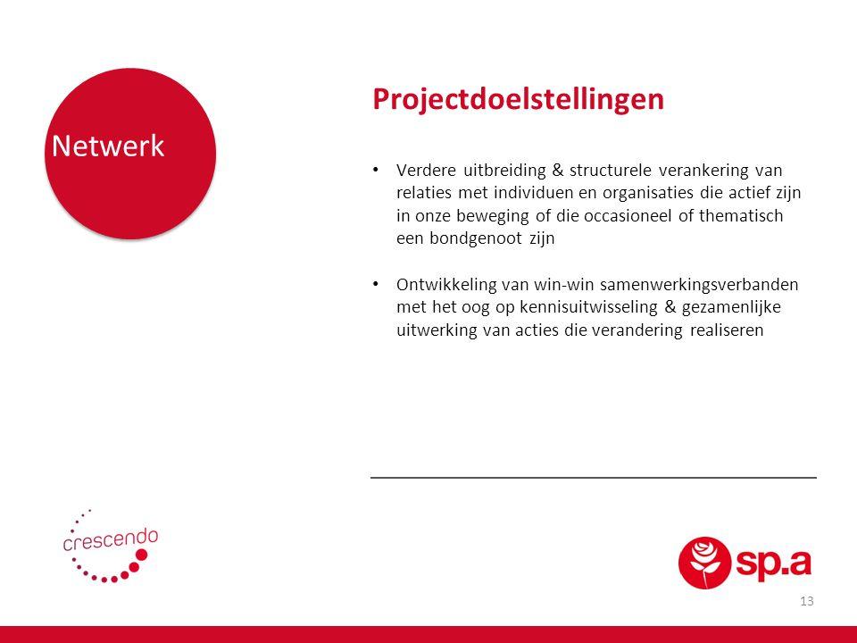 Projectdoelstellingen Netwerk