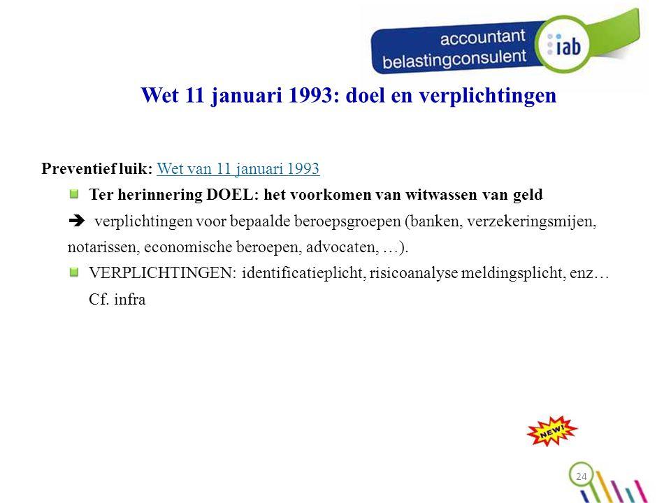 Wet 11 januari 1993: doel en verplichtingen