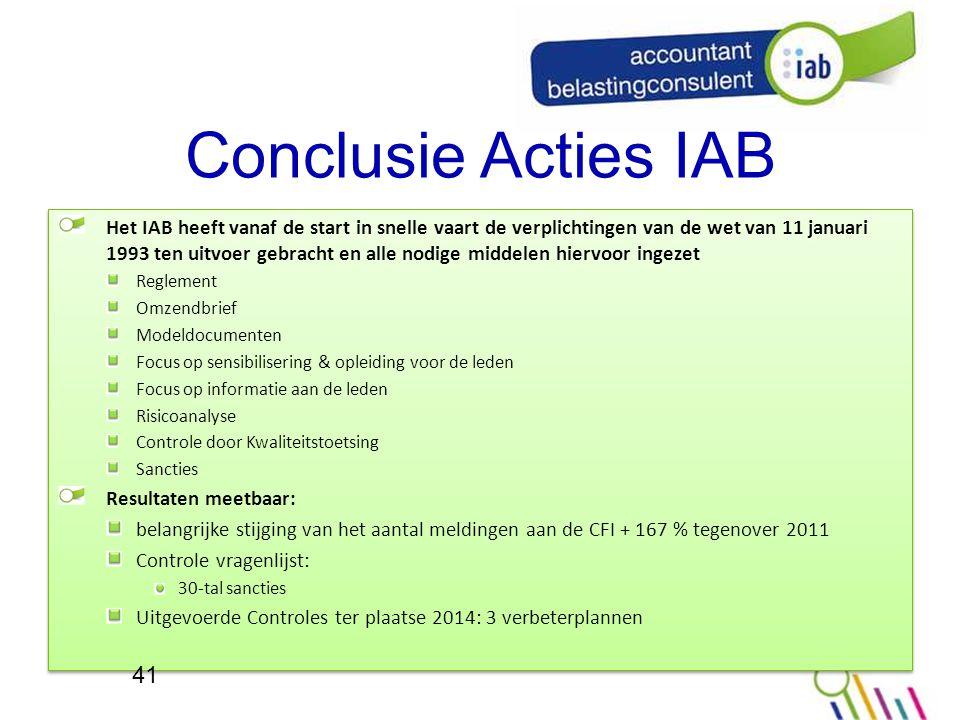 Conclusie Acties IAB