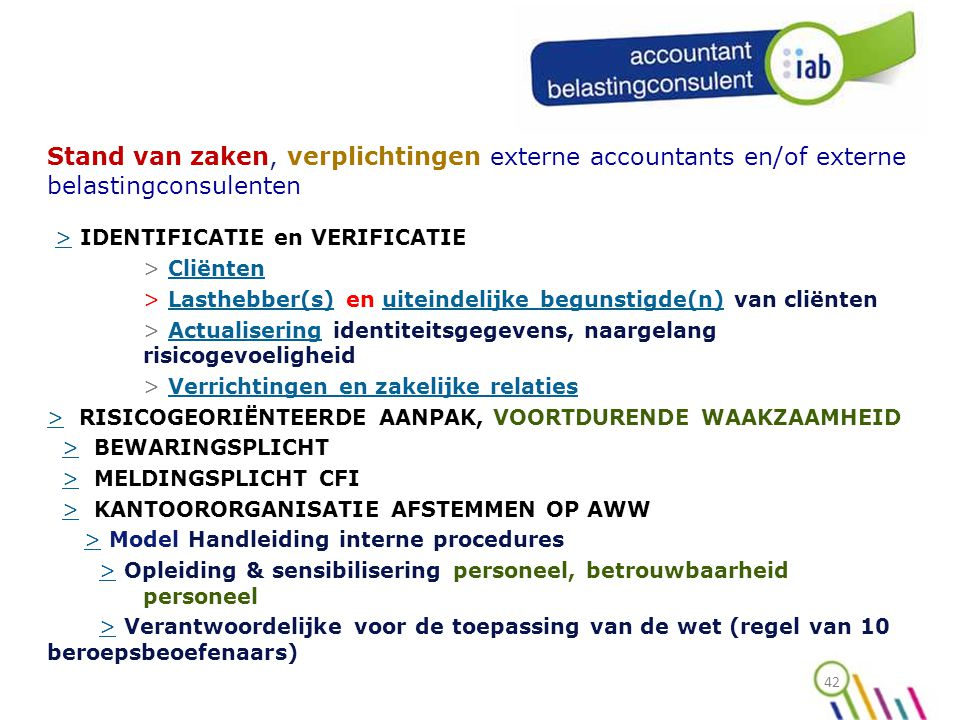 > IDENTIFICATIE en VERIFICATIE