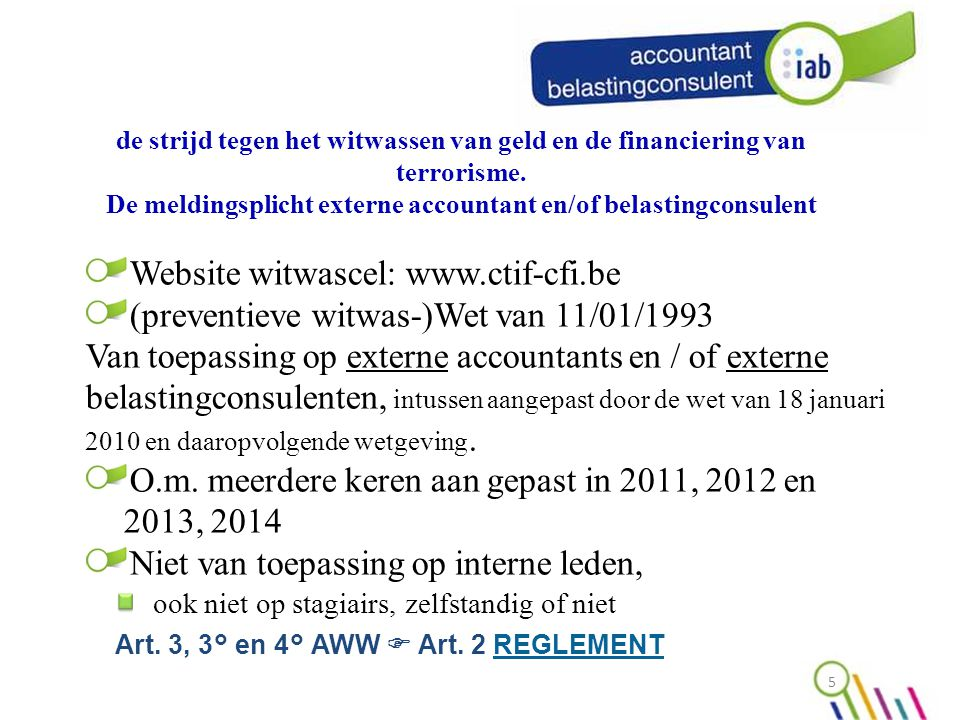 Website witwascel: www.ctif-cfi.be