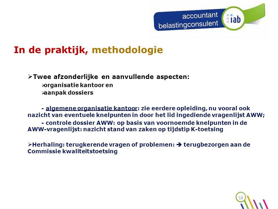 In de praktijk, methodologie