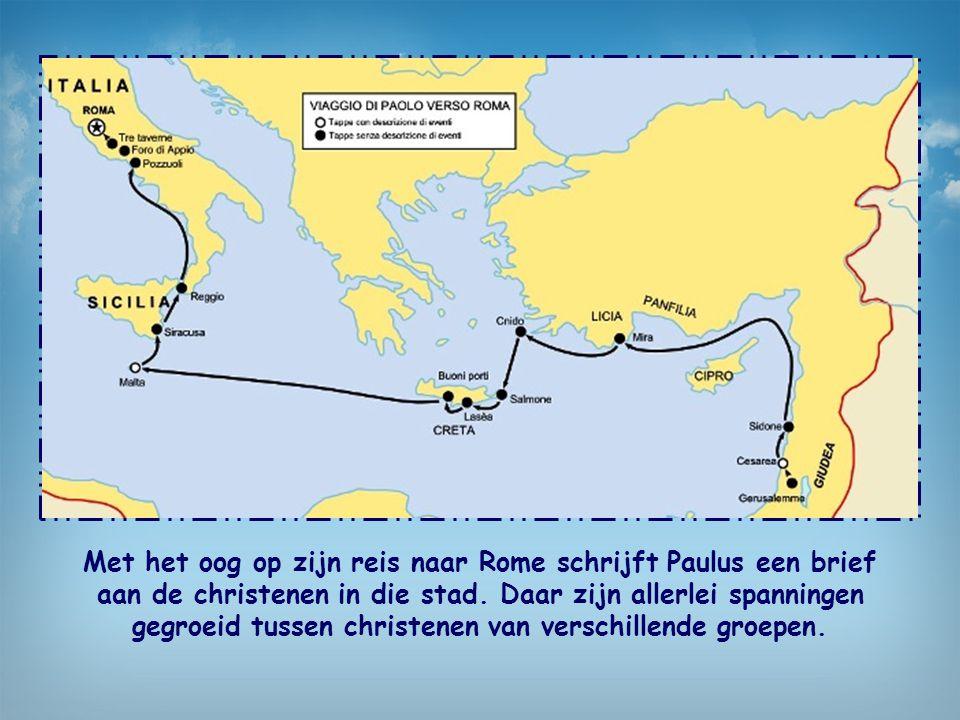Met het oog op zijn reis naar Rome schrijft Paulus een brief aan de christenen in die stad.