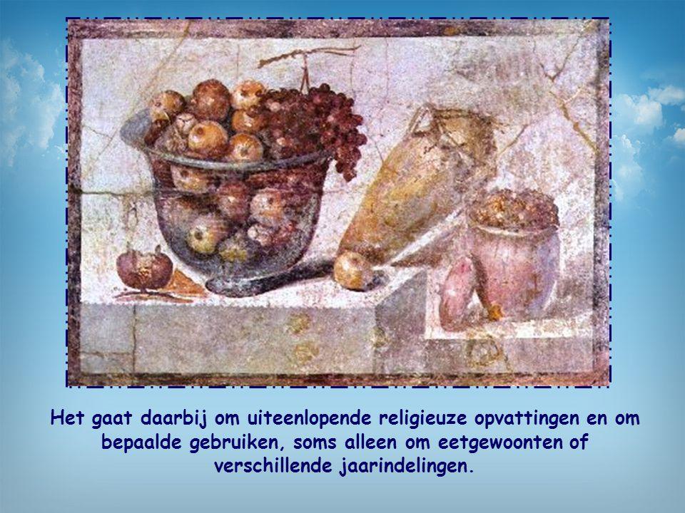 Het gaat daarbij om uiteenlopende religieuze opvattingen en om bepaalde gebruiken, soms alleen om eetgewoonten of verschillende jaarindelingen.