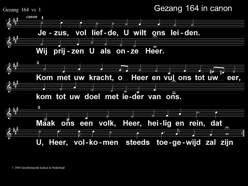 Gezang 164 in canon