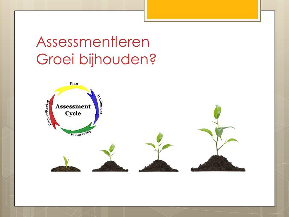 Assessmentleren Groei bijhouden