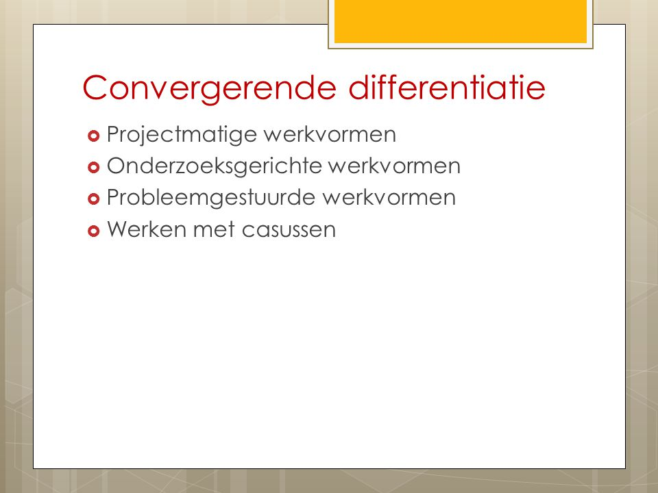 Convergerende differentiatie