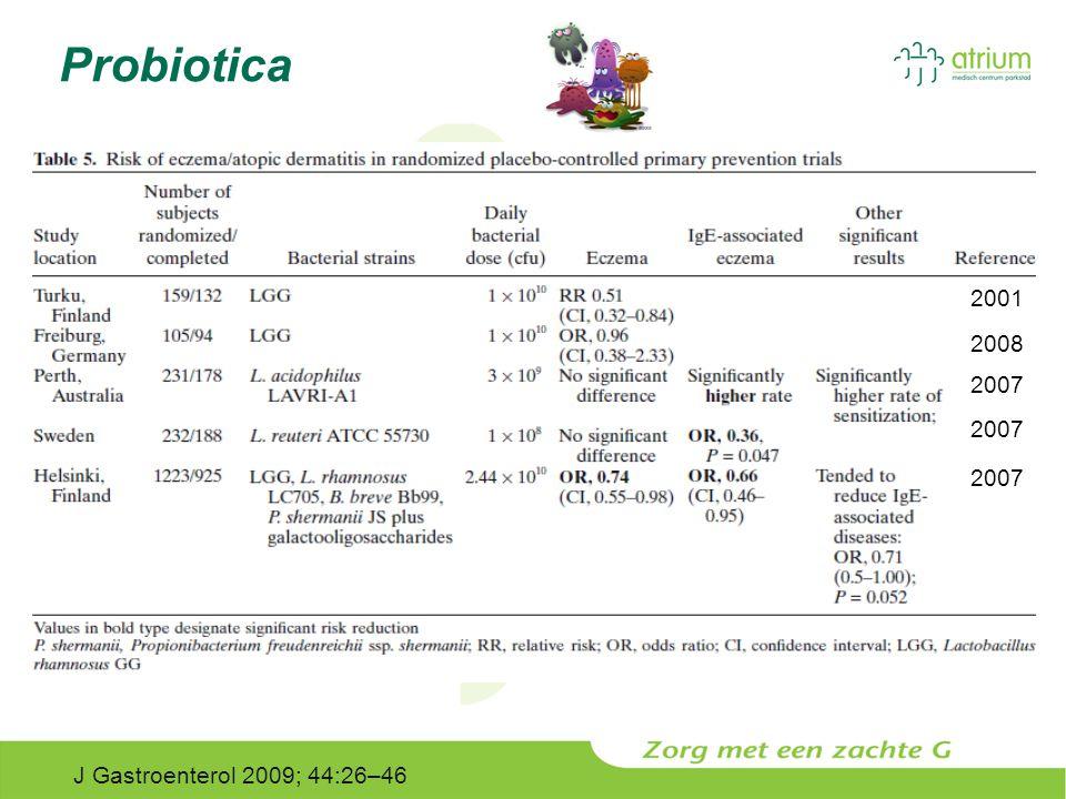 Probiotica 2001 2008 2007 2007 2007 J Gastroenterol 2009; 44:26–46