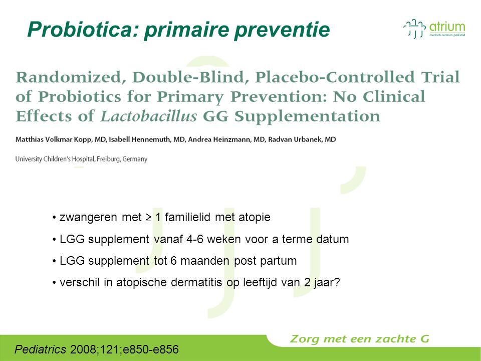 Probiotica: primaire preventie