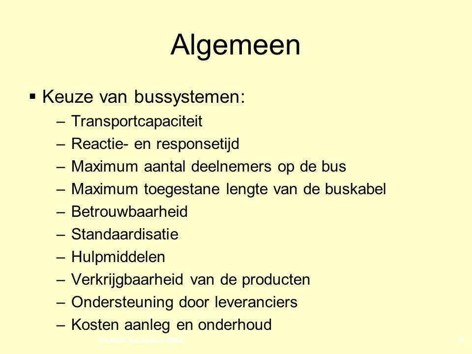 Algemeen Keuze van bussystemen: Transportcapaciteit