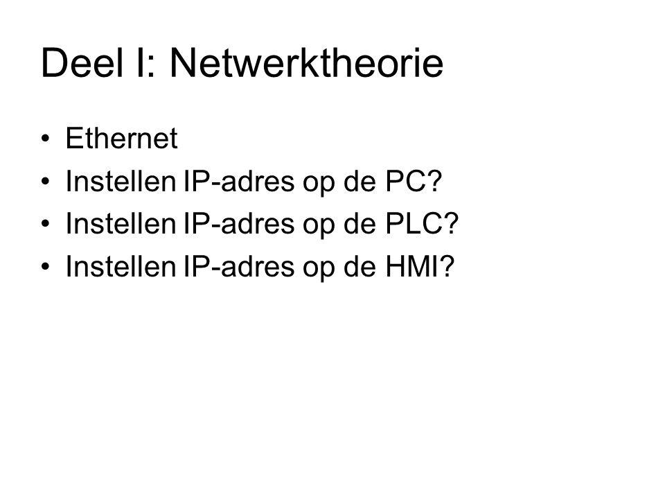 Deel I: Netwerktheorie