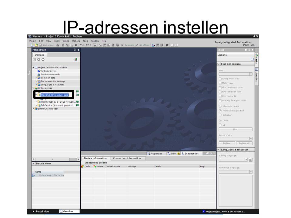 IP-adressen instellen