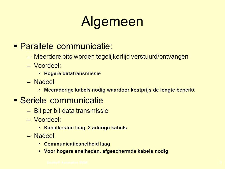 Algemeen Parallele communicatie: Seriele communicatie