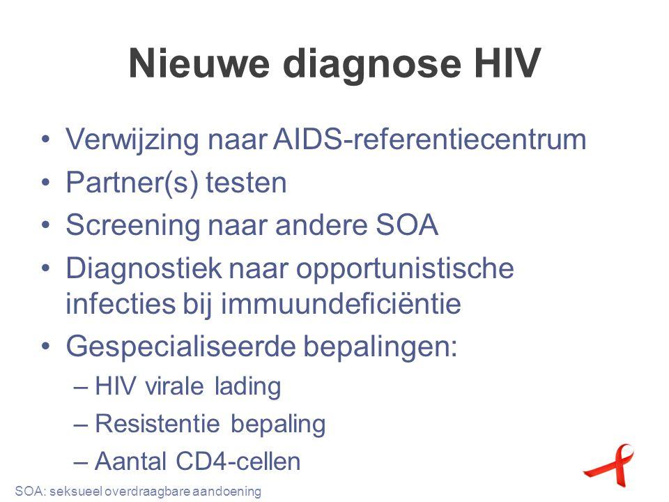 Nieuwe diagnose HIV Verwijzing naar AIDS-referentiecentrum