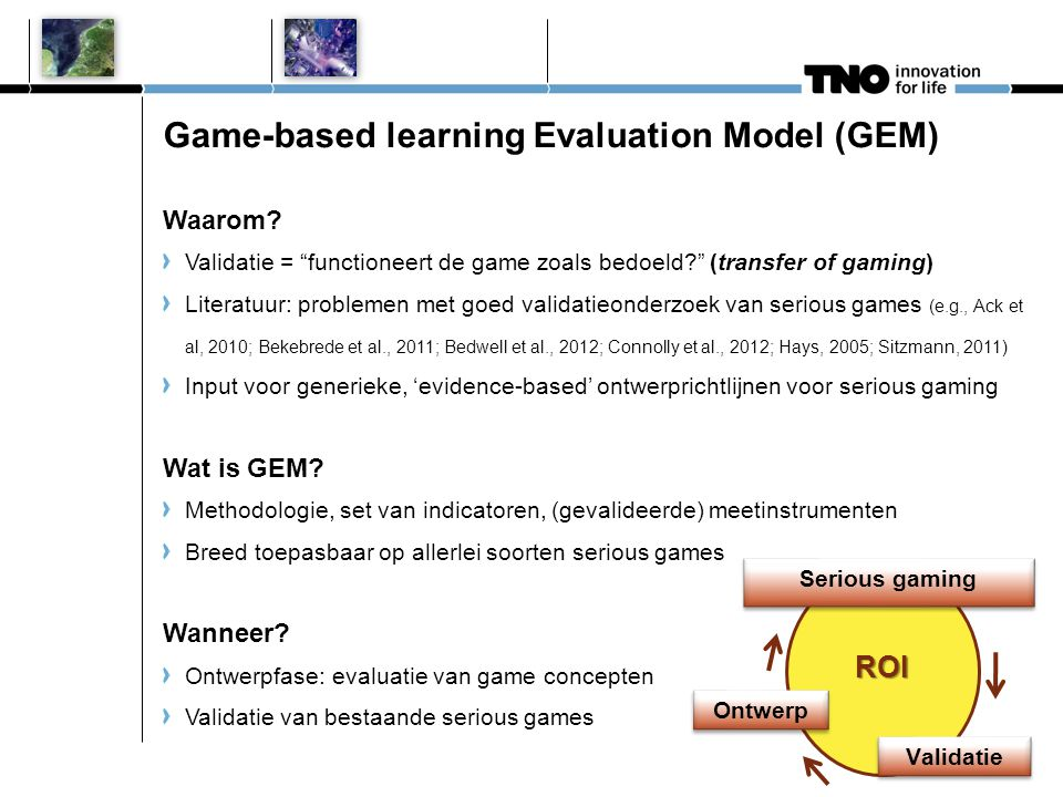 Game-based learning Evaluation Model (GEM)