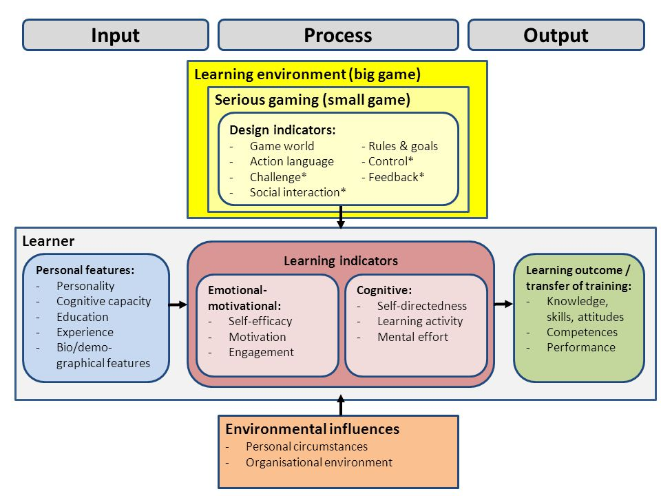 Process Output Input Learning environment (big game)