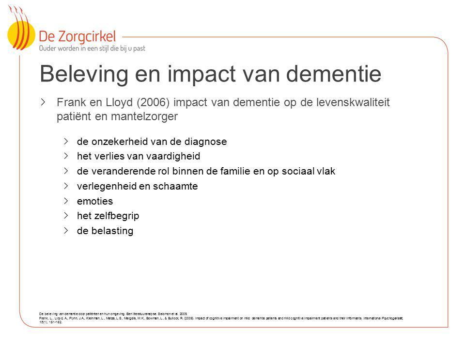 Beleving en impact van dementie