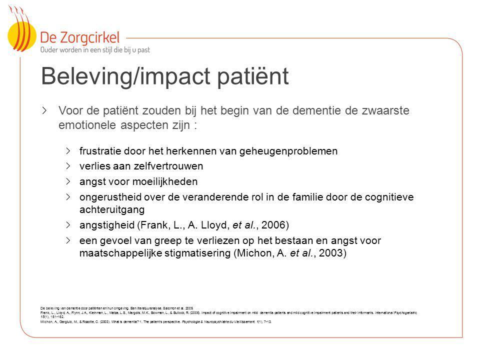 Beleving/impact patiënt