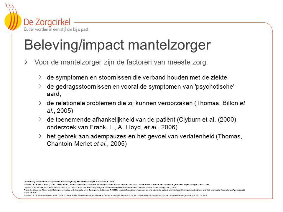 Beleving/impact mantelzorger