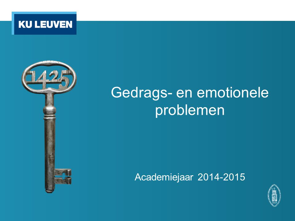 Gedrags- en emotionele problemen