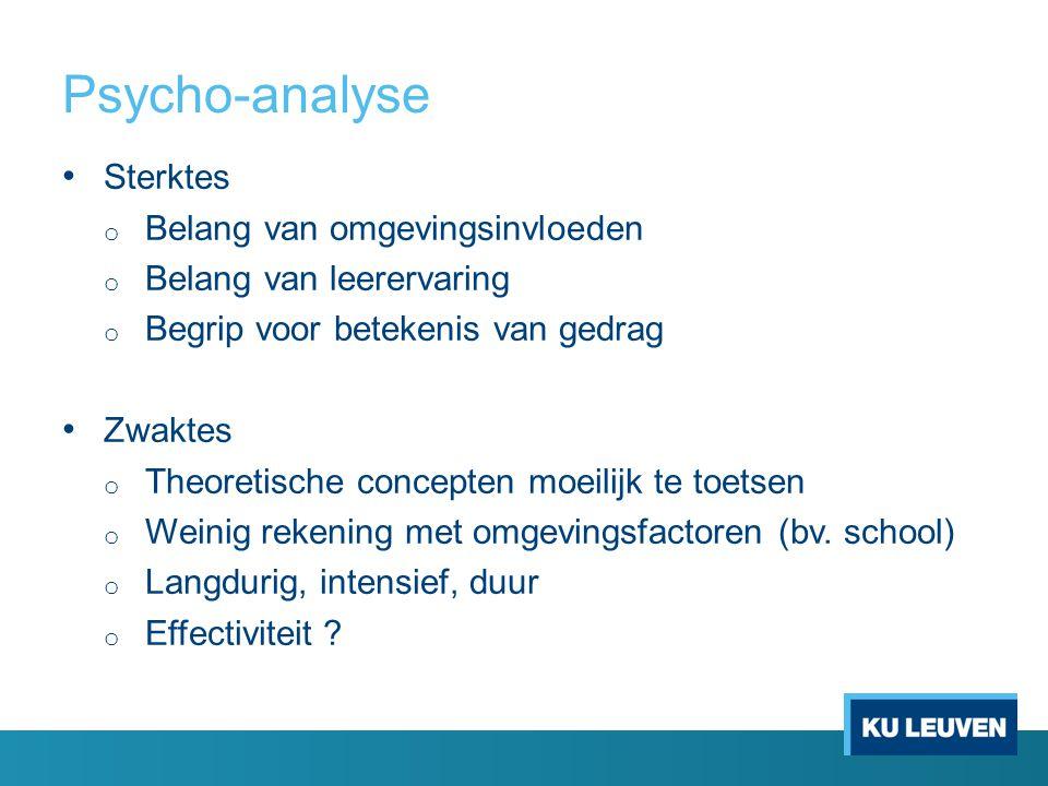 Psycho-analyse Sterktes Belang van omgevingsinvloeden