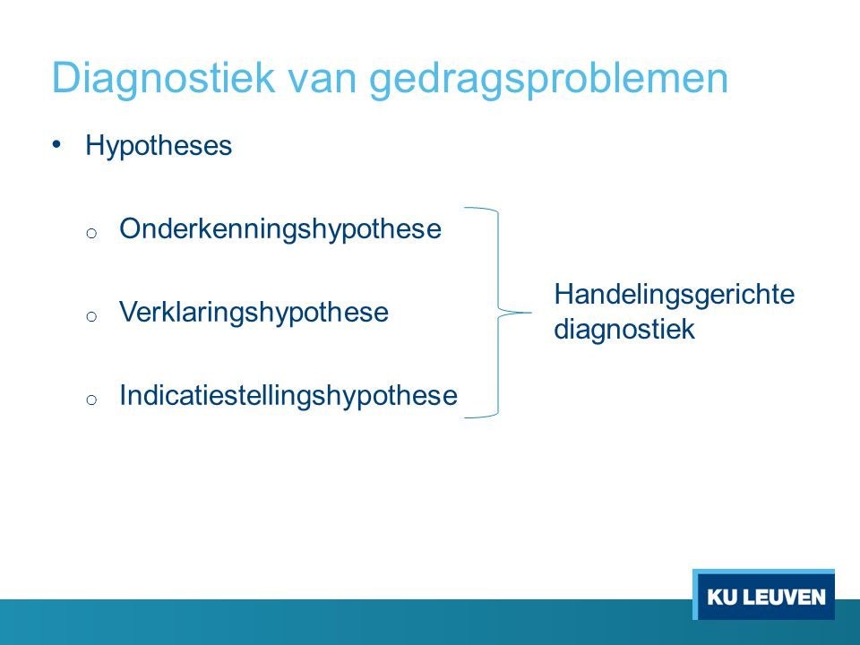 Diagnostiek van gedragsproblemen