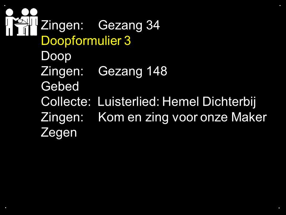 Collecte: Luisterlied: Hemel Dichterbij