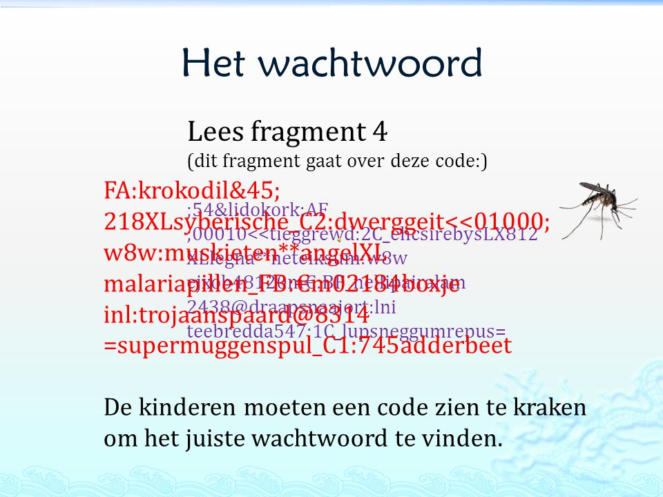 Het wachtwoord Lees fragment 4 FA:krokodil&45;