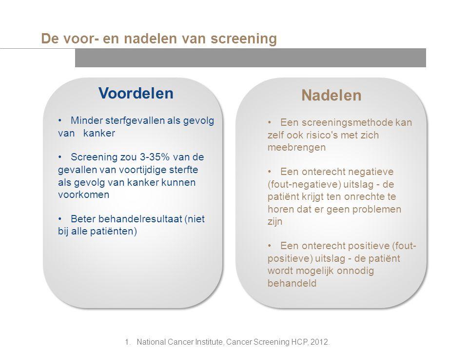 De voor- en nadelen van screening