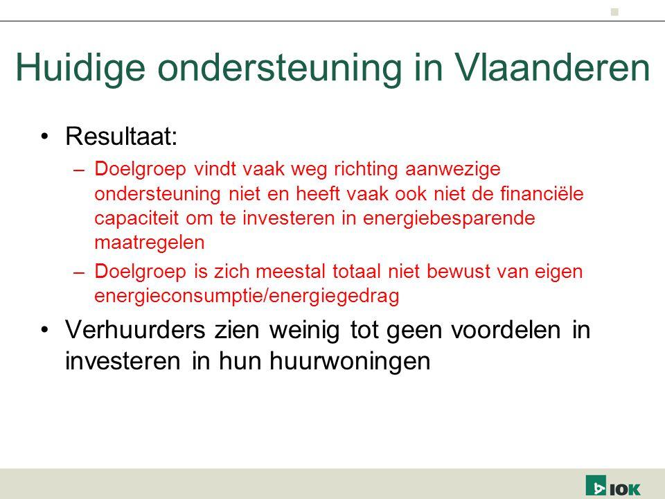 Huidige ondersteuning in Vlaanderen