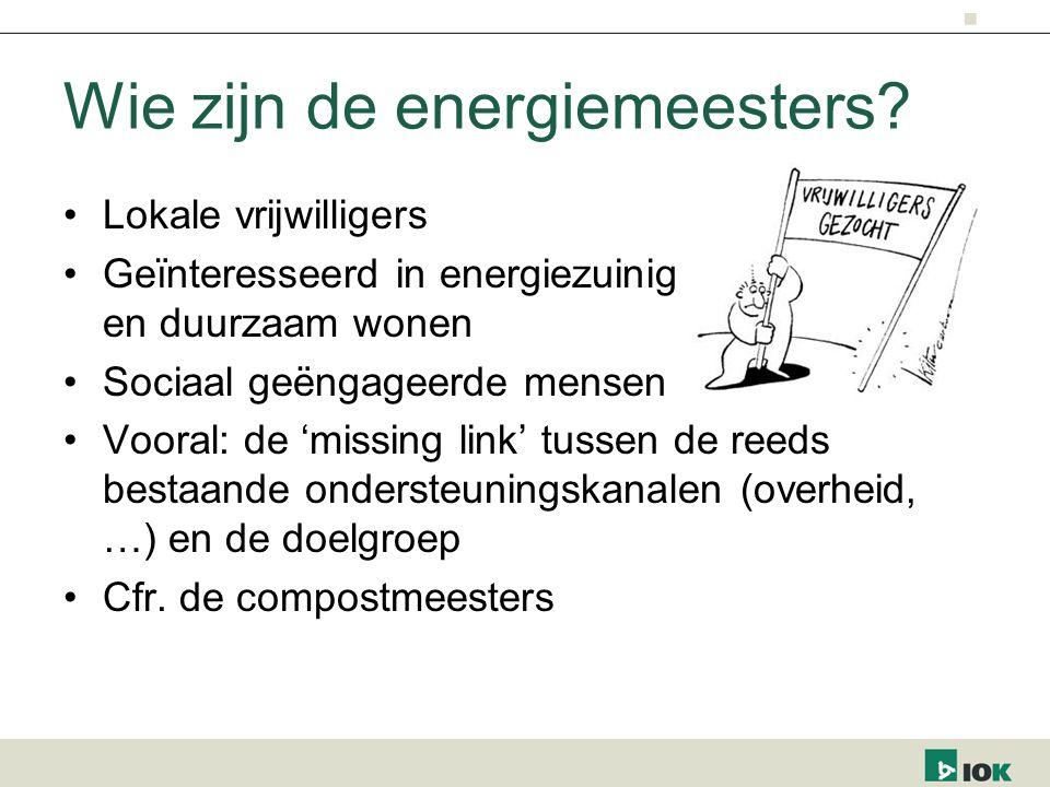 Wie zijn de energiemeesters