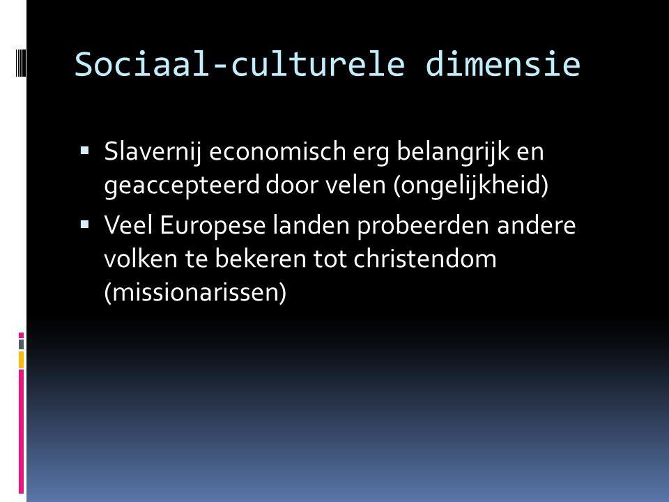 Sociaal-culturele dimensie