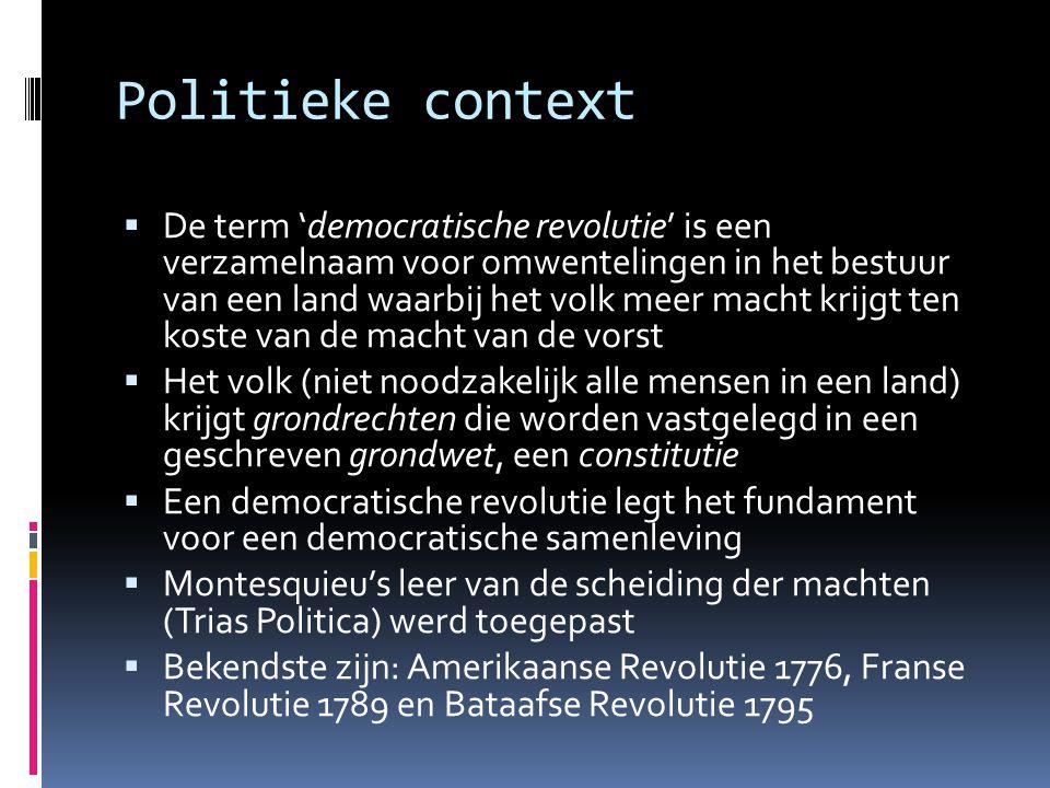 Politieke context