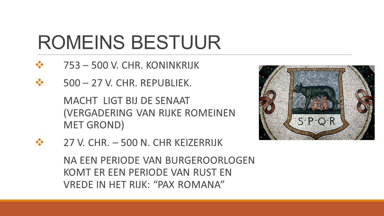 ROMEINS BESTUUR 753 – 500 V. CHR. KONINKRIJK