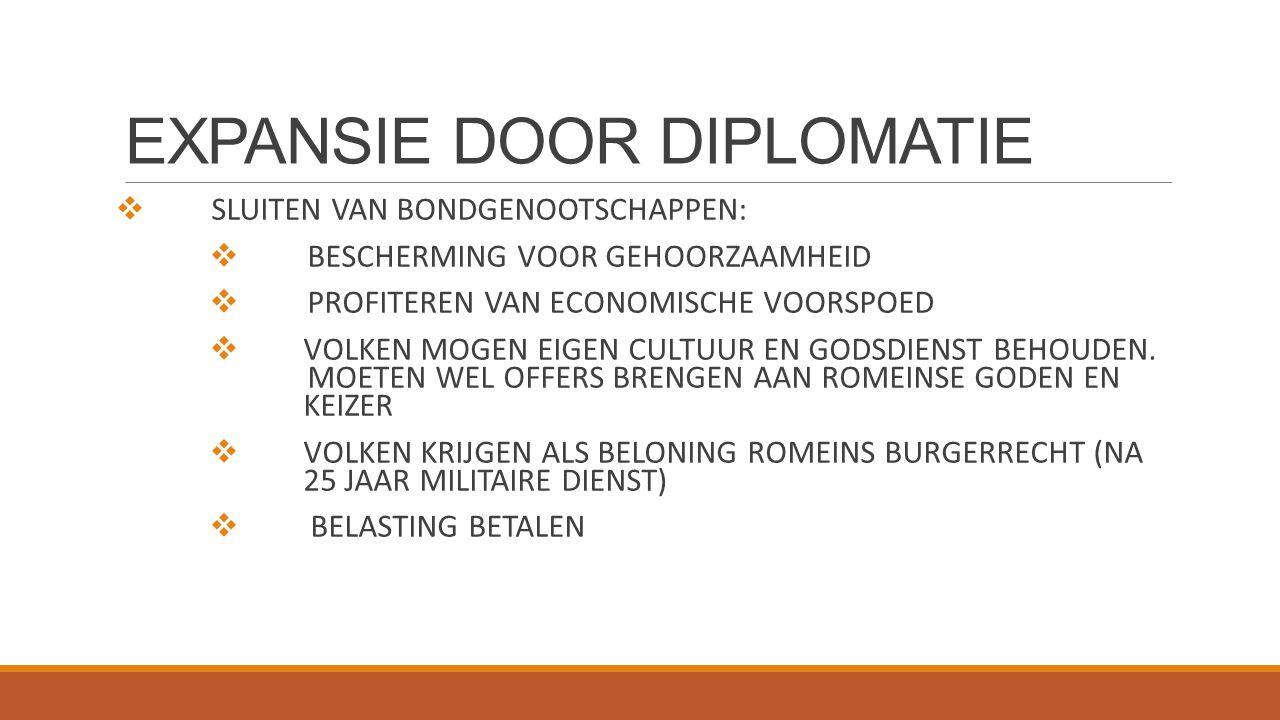 EXPANSIE DOOR DIPLOMATIE