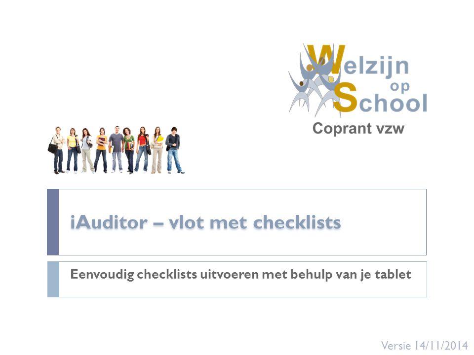 iAuditor – vlot met checklists