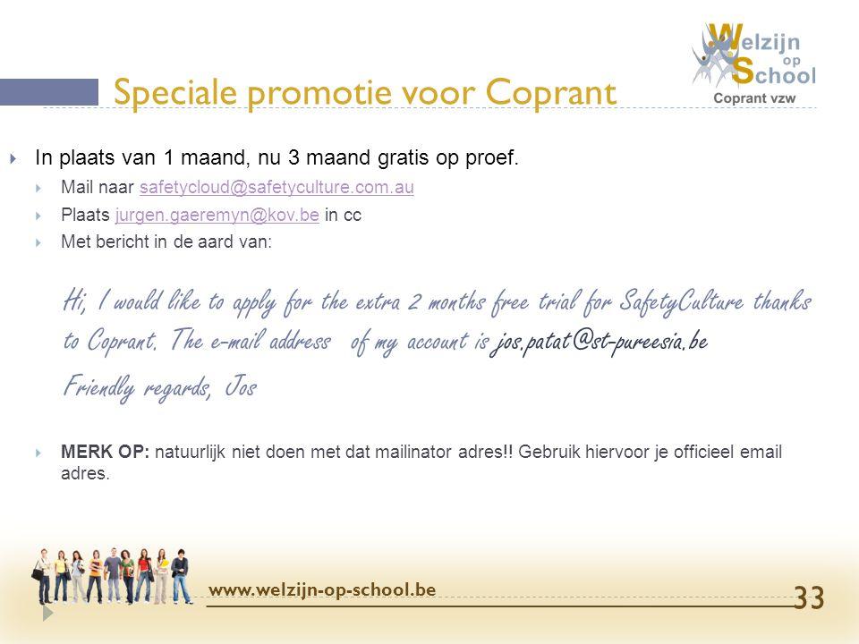 Speciale promotie voor Coprant