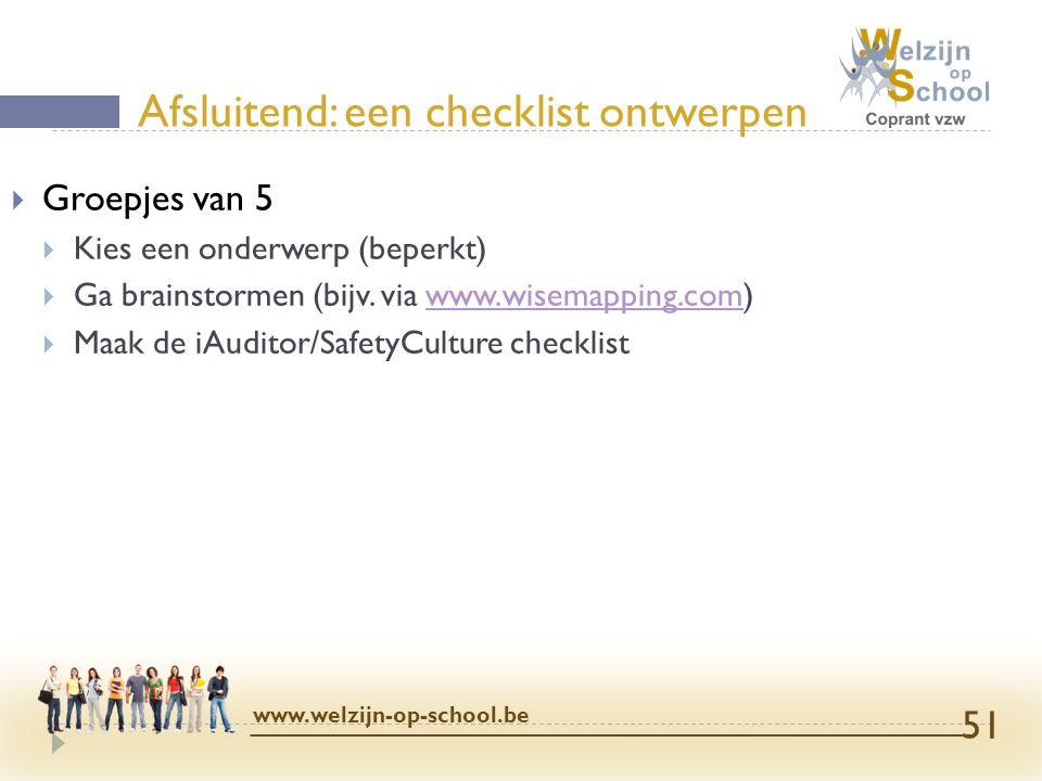 Afsluitend: een checklist ontwerpen