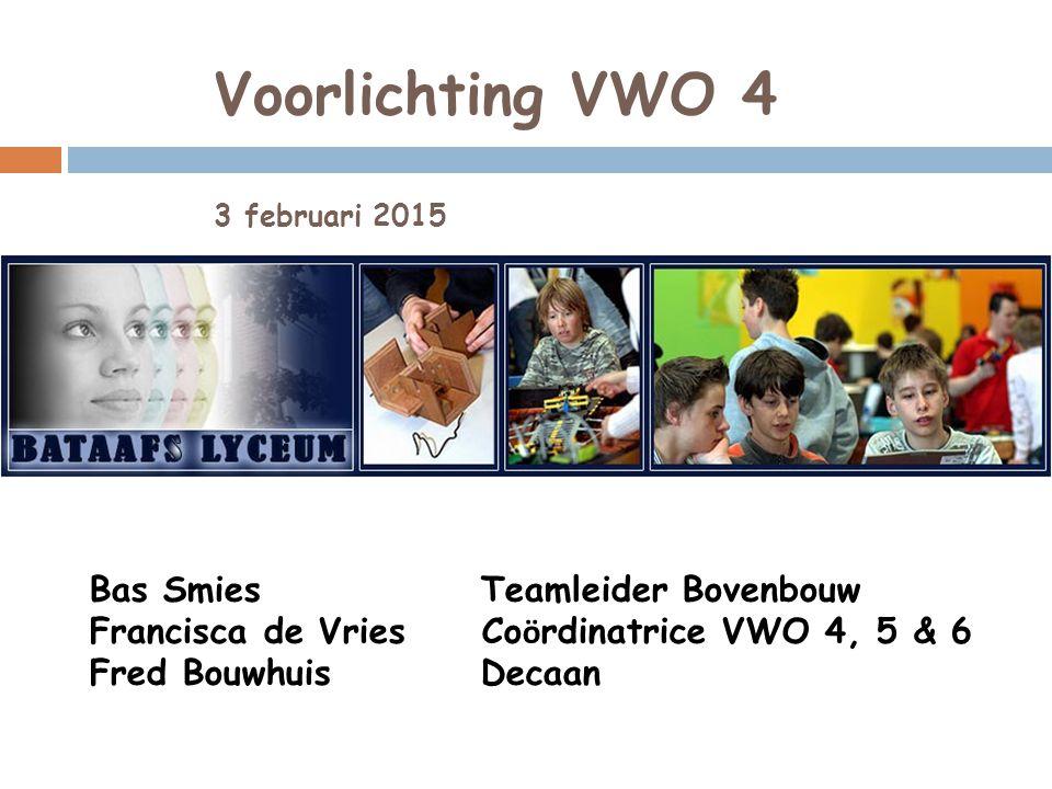 Voorlichting VWO 4 3 februari 2015