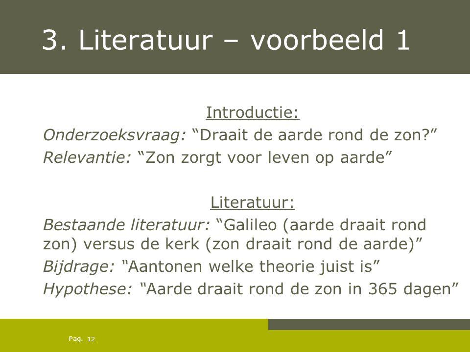 3. Literatuur – voorbeeld 1