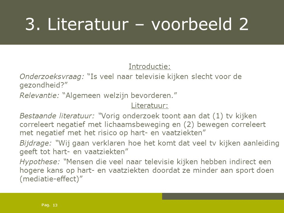 3. Literatuur – voorbeeld 2
