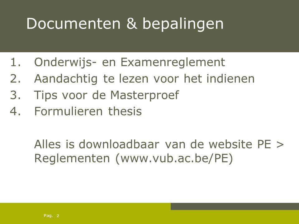 Documenten & bepalingen