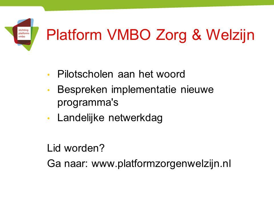 Platform VMBO Zorg & Welzijn